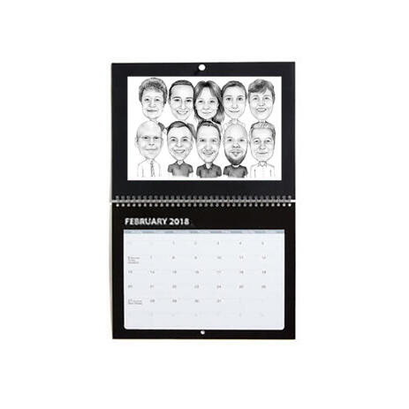 Business Logo Caricature on Calendar - example