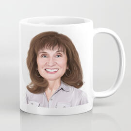 Custom Print on Mug: Personalized Portrait Drawing from Photo