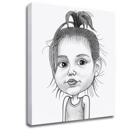 Baby Girl Caricature Printed on Photo Block