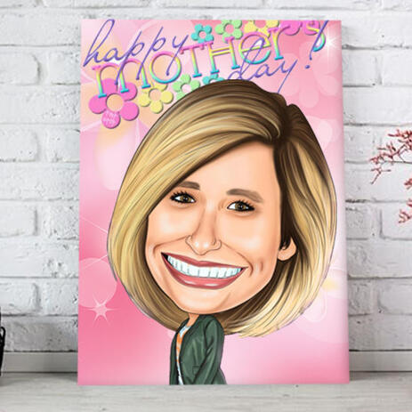 Custom Caricature Drawing Online from Photo | Mother\'s Day Gifts