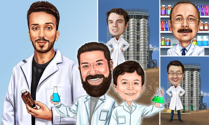 Pharmacist Caricature large example