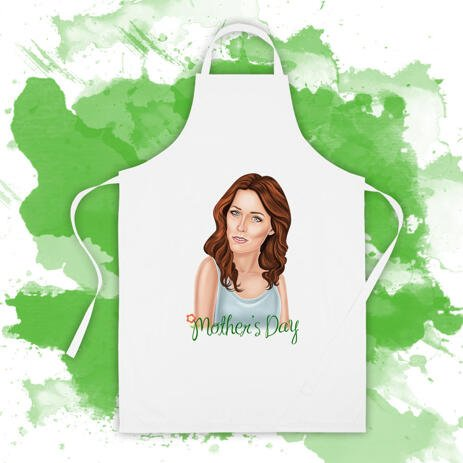 Digital Print on Apron: Custom Photo Print of Digital Cartoon Caricature on Apron - example