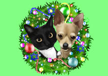 Christmas Pet Caricature example 19