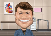 Doctor caricatura example 2