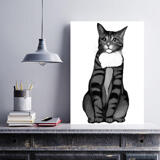 Cat Portrait from Photos on Canvas