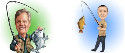Fishing Caricature