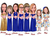 Bridesmaids karikatuur example 8