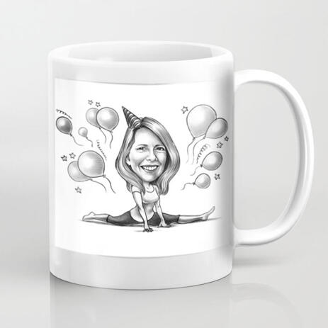 Custom Caricature Mug for Gift - example