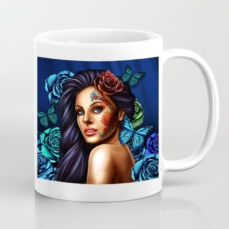 Portrait on Personalised Coffee Mug - example