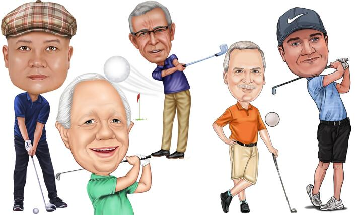Caricatura de golf large example