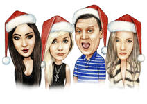 Family Christmas Caricature example 11