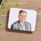Business Portrait on Photo coasters