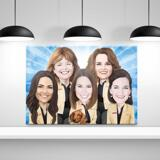 Staff Caricature on Canvas