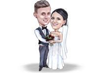 Bruiloft Teddy karikatuur example 5