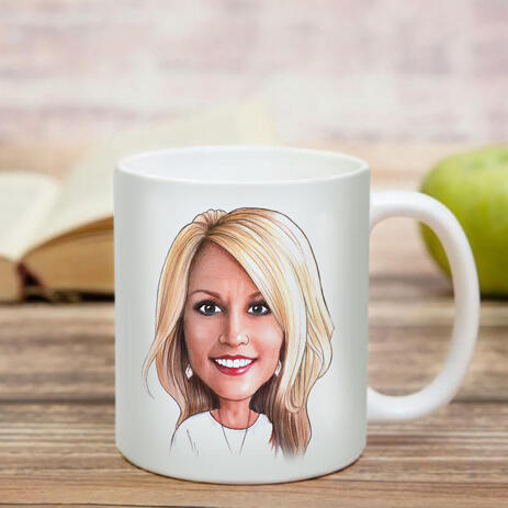 Business Logo Caricature on Cofee Mug - example