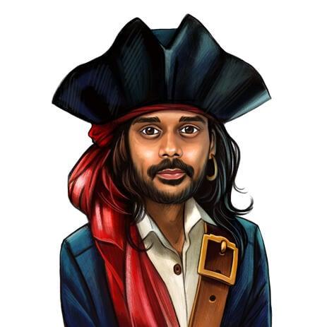 Piratenkarikatur für Fluch der Karibikfans - example