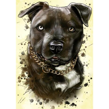 Colorful Dog Painting from Photos in Custom Portrait Style - example