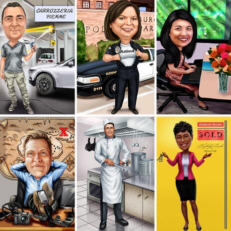 Funny Hobby or Professions Caricature from Your Photos - example