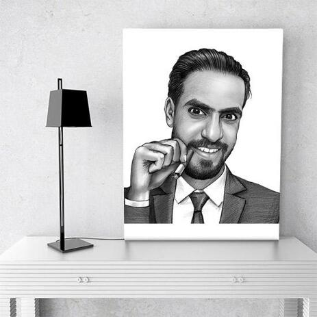 Corporate Portrait on Canvas - example