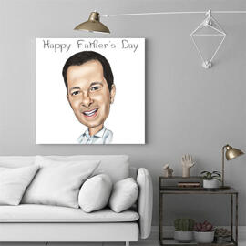 Father's Day Caricature Canvas