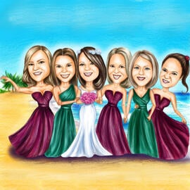 Bridesmaids Caricature