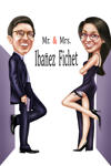 Mr. & Mrs. Couple Caricature example 9