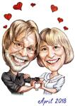 Caricatures Saint Valentin example 7