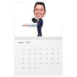 Employee Caricature on Calendar