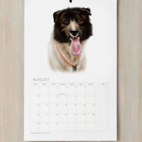 Dog Portrait from Photos on Calendars - example