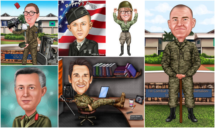 Military Caricatures large example