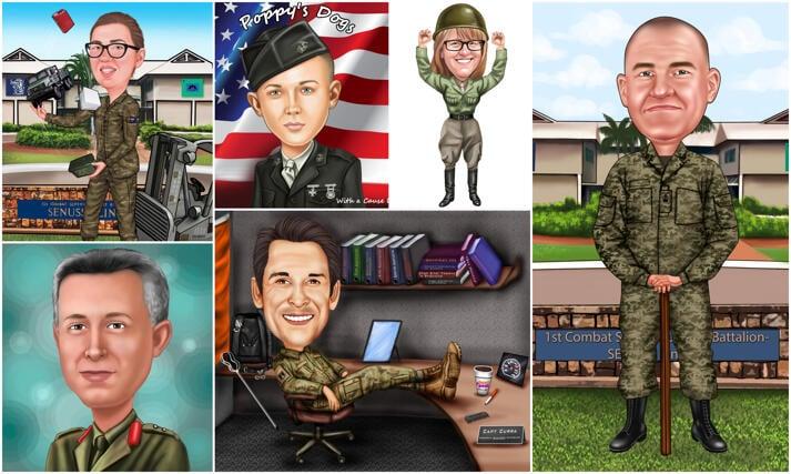 Militära karikatyrer large example
