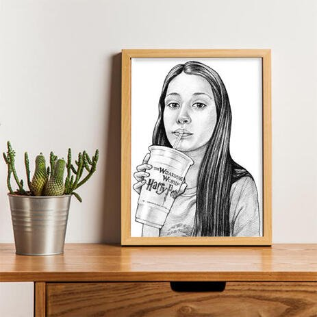 Teen Caricature from Photos as Poster - example