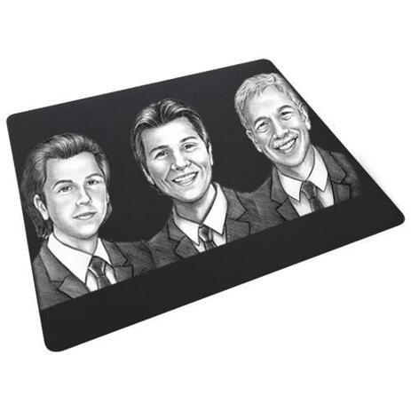 Caricature for Business Owners on Mouse Pad - example