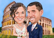 Wedding Caricature Poster example 10