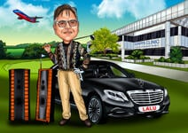 Caricatura da golf example 13