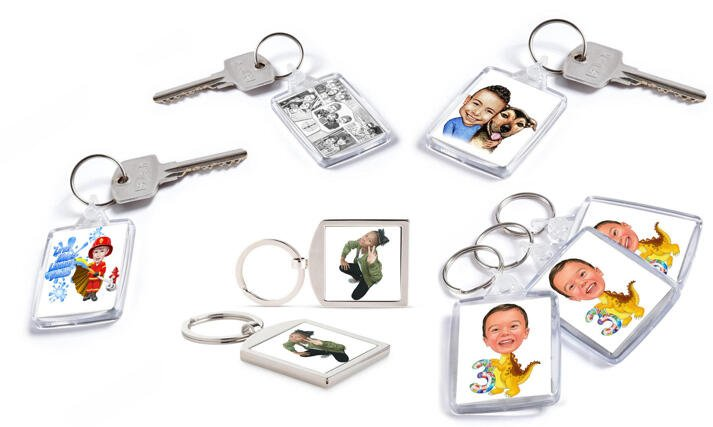 Kids Keychain Caricature large example