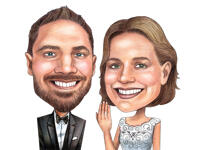 Wedding Caricature Poster example 7