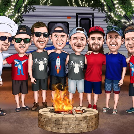 Custom Groomsmen Cartoon from Photos - Groomsmen Gift - example