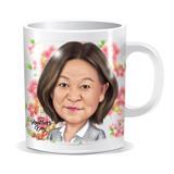 Photo Mug: Printed Cartoon Drawing of Mother on Mug