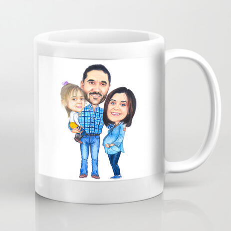 Custom Group Caricature on Mug - example