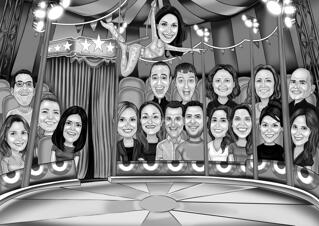 Circus Group Caricature from Photos