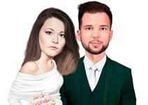結婚式の風刺画 example 7