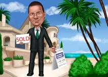 Caricature d'agent immobilier example 1