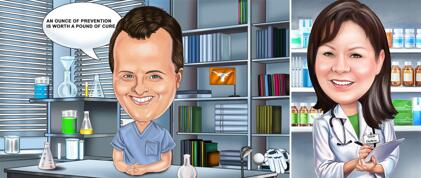 Pharmacist Caricature