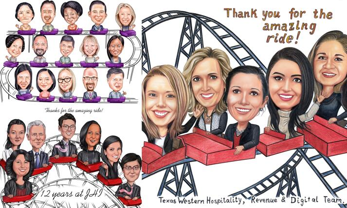 Rollercoaster Caricature large example