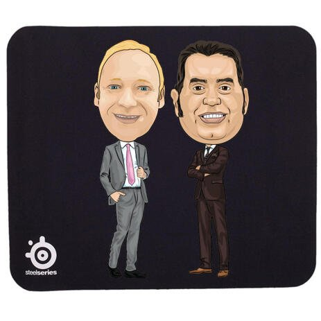 Caricature for Employee on Mouse Pad - example