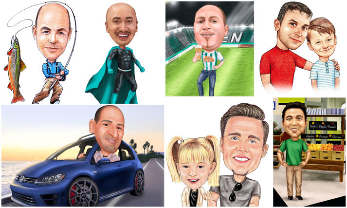 Father's Day Caricatures large example