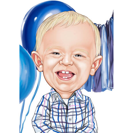 Baby Birthday Anniversary Caricature from Photos - example