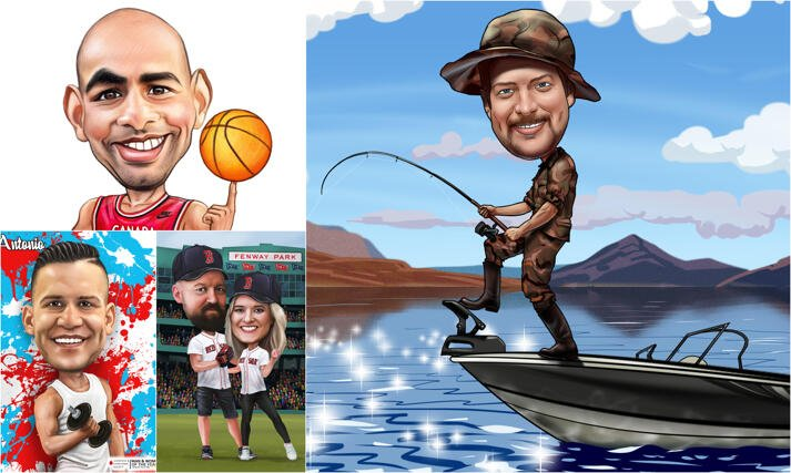 Sports Caricatures large example