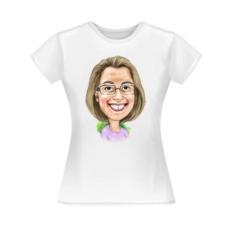 Kundenspezifisches T-Shirt mit Karikatur vom Foto - example